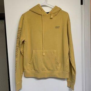 Obey yellow hoodie sweatshirt